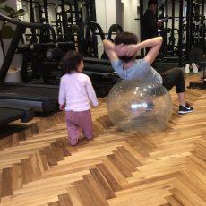 お子様連れのトレーニング